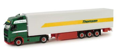 Herpa HER157070 Thomsen - Camión con remolque para frigorífico Volvo GL XL 4x2, escala 1/87