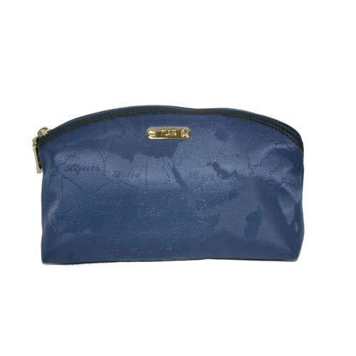 Borsello Alviero Martini prima classe jaquard blu beauty case