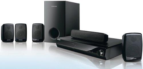 Samsung HT Z 320 R 5.1 Heimkinosystem (DVD-Player, HDMI, Upscaler 1080p, DivX-Zertifiziert, USB 2.0) schwarz