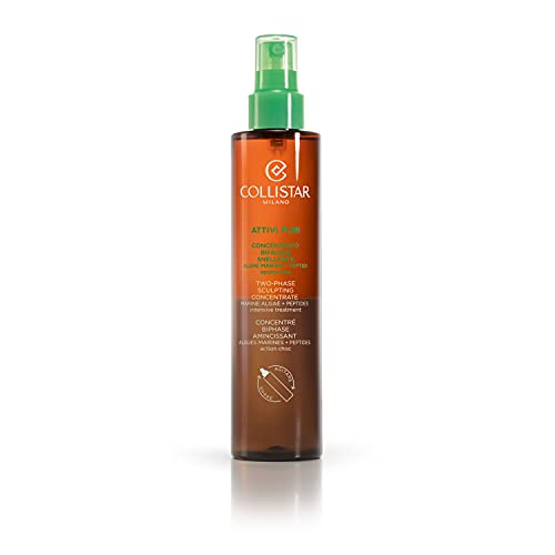 Collistar Attivi Puri Concetrato Bifasico Snellente Alghe Marine + Peptidi, Spray Corpo drenante, Leviga, ricompatta e riduce gli accumuli adiposi, Per tutti i tipi di pelle, 200 ml