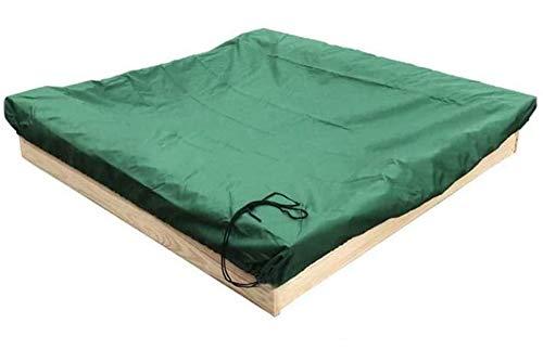 ELR Funda de protección a prueba de polvo para arenero verde con cordón impermeable para alberca de arenisca 95% resistente a los rayos UV para niños Toy Garden Small Pool Shelter Sunshade Cover