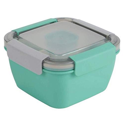 Lunch Box For Kids Bento Box Containers 2-vaks hermetische Lunch vakken for Magnetron Vriezer Vaatwasser (Color : Green, Size : 1.1L)