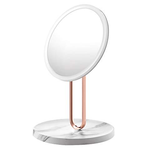 ZCJB Miroir Cosmétique, Miroir de Maquillage Multifonctionnel de Vanité Maquillage de Beauté HD LED RM273 (Couleur : Marble)