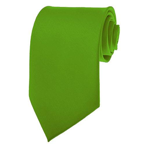 Clover Green Necktie SOLID Mens Neck Tie Satin by K. Alexander