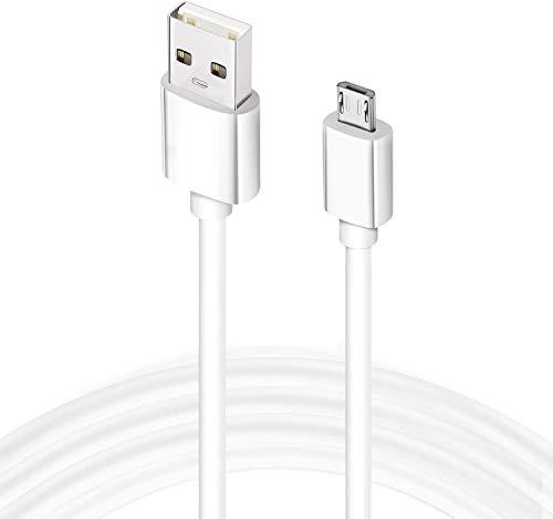 1 cable micro USB blanco, 1 metro de cable Android, cable micro sincronización USB de alta velocidad para mandos de PS4/PS4, Samsung S6/S7, Xbox, Nexus, Sony Phone y más marca Dragon Trading