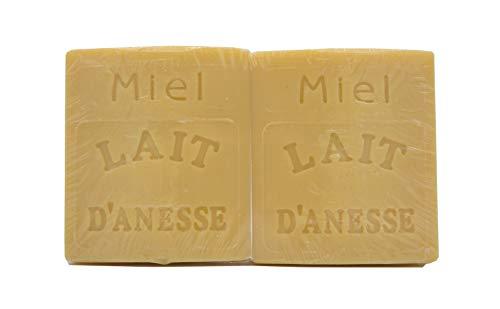 Savon au Lait d'Ânesse - parfum MIEL - Made in France (2X100g)