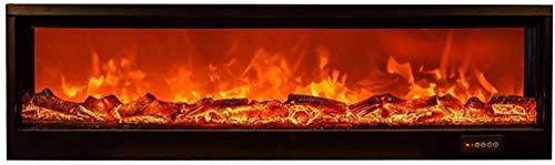 Soporte de Pared para Chimenea Eléctrica - Juego de Troncos y Llama Ardiente Efecto Decorativo Temporizador Ajustable con Mando a Distancia - Sin Calefacción E