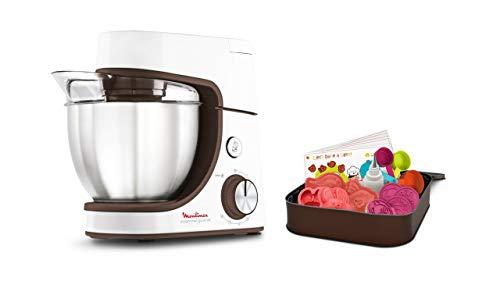 Moulinex Pâtissier Masterchef Gourmet Baking with Kids-Robot pastelero, Acero Inoxidable