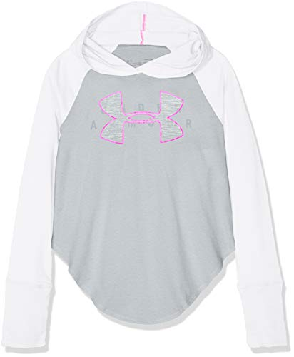Under Armour Finale Layer Camiseta de Manga Larga, Niñas, Blanco (White/Mojo Pink 100), S