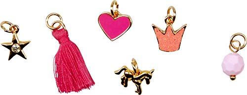 Prinzessin Lillifee Halskette mit 7 austauschbaren Anhängern Charms Längenverstellbar Nickelfrei