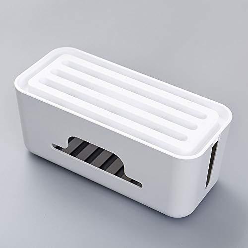 Qwed Kabelaufbewahrungsbox,kabelbox,kabelorganisation,Aufbewahrungsbox,Kabelabdeckung für TV-Computerkabel,Netzteil,Netzteil,USB-Ladegerät