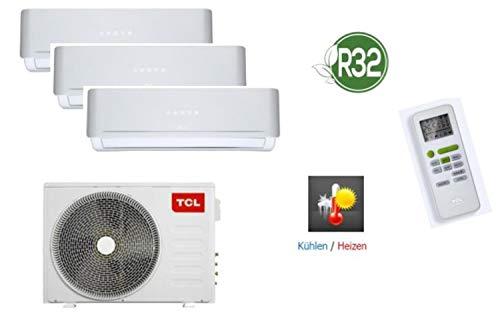 TCL 4 in 1 Trio Split-Klimaanlage Kühlen, Heizen, Ventilieren und Entfeuchten, 24.000 BTU/7,9KW, mit Kältemittel R32, ohne Quick Connector, geeignet für Serverräume