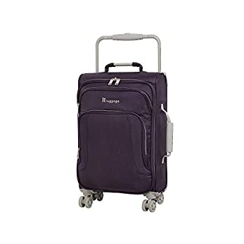 it luggage World s Lightest New York Softside 8 Wheel Spinner Purple Pennant With Cobblestone Trim Carry-On 22-Inch