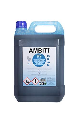 Ambiti Blue 5 L. aditivo para aguas negras, depósito de residuos, Sanitary Fluid