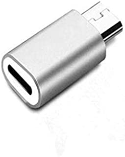 Converter from Lighting iOS Apple iPhone to Micro USB Android for Data Transmission and Fast Charging - Silver
