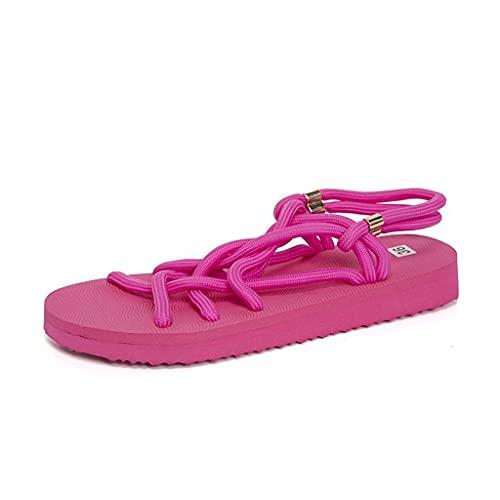 Sandalias Mujer Verano Planas Bohemia Sandalias Cómodo Casual Zapatos de Playa Chanclas Mujer