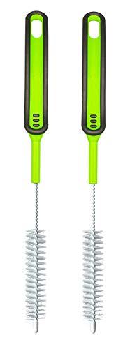 Set da due spazzole - Spazzola per la pulizia delle lame - Accessori perfetti per la pulizia di lame / gruppo coltelli per, ad esempio, Bimby  TM5 / TM31 / TM21 / frullatore etc. Spazzolino (2 verde)