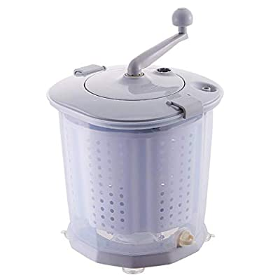 ROMX Portable Eco Washer Washing Machine,Portable Hand Cranked Manual Clothes Washing Machine,Portable Dryer,Counter Top Washer for Camping, Apartments