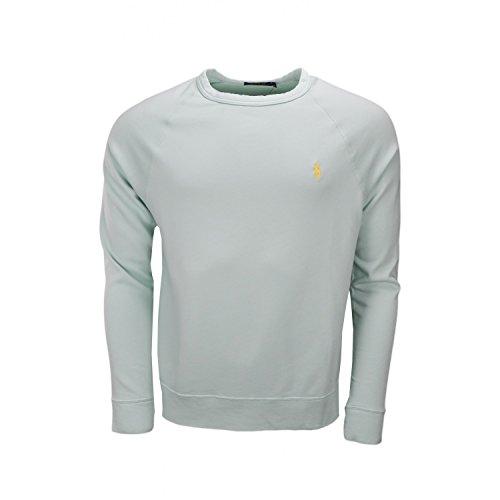 Ralph Lauren Herren-Sweatshirt, Baumwolle, Frottee, Wassergrün Gr. X-Large, grün