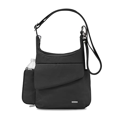 Travelon Anti-Theft Classic Messenger Bag, Black,...