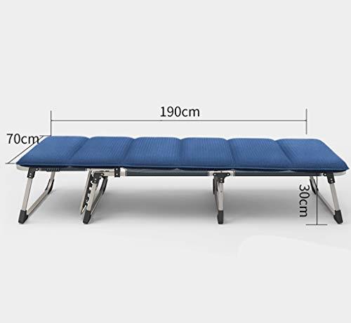 YWZDY Bains de Soleil Lit Pliant, Chaise de Camping à Dossier réglable, Chaise Longue de Jardin, (Couleur : Bleu, Taille : 70cm)
