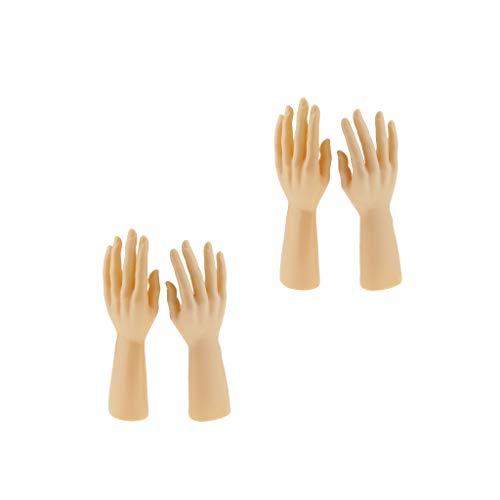 KESOTO 2 Paar Hand Display Dekohand Schmuckhand Schmuckhalter aus Polyethylen