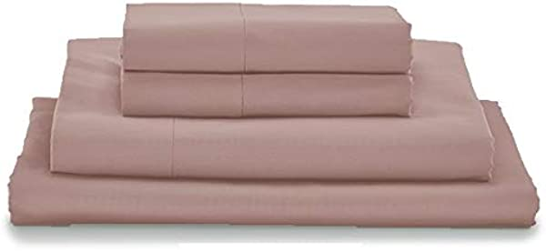 MyPillow Bed Sheet Set 100 Certified Giza Egyptian Long Staple Cotton Queen Dusty Rose