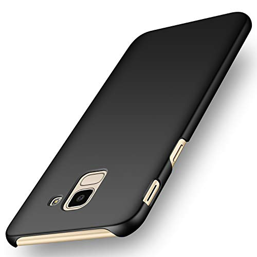 """deconext Funda Samsung J6(2018), Carcasa Ultra Slim Anti-Rasguño y Resistente Huellas Dactilares Protectora Caso de Duro Cover Case para Samsung Galaxy J6(2018) 5,6"""" Negro Liso"""