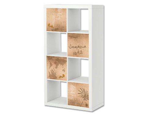 Stikkipix Pirata Cascarillo para muebles | ER29 | Adhesivos adecuados para el estante EXPEDIT/KALLAX de IKEA (mueble no incluido)