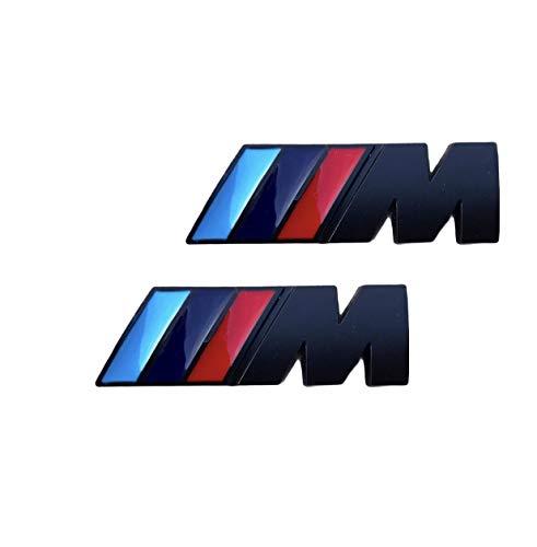 Yukamotor Pegatinas M Aletas Laterales para BMW 2 Piezas (M Negro Mate)