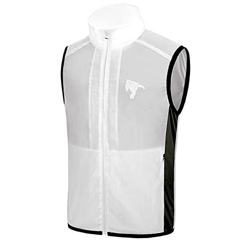 ZFLY Ventilador de Verano Chaleco de refrigeración Hombres Mujeres Aire Acondicionado Abrigo Fresco Chaqueta de protección Solar al Aire Libre Carga USB Ropa de Ventilador Inteligente