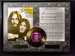 John Lennon Give Peace a Chance Golden plated disc