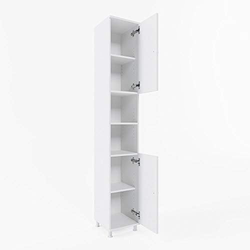 Vicco Bathroom Cabinet Fynn Bath Cabinet White 190cm high Cabinet Bathroom Furniture