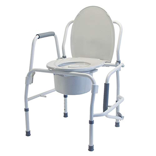 Lumex 3-in-1 Bedside Commode, Raised Toilet Seat, and Toilet Safety Rail, 300 lb. Weight Capacity, 6433A