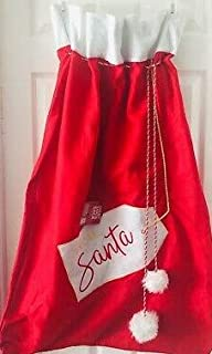 Christmas Gift Bag Giant Santa Sack - Red Felt Drawstring from Santa - Great for Christmas Presents and Holiday Gifts