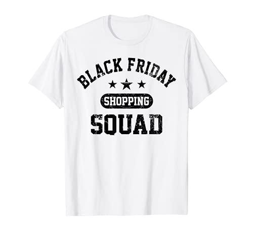 Compras navideñas Escuadrón de Compras del Viernes Negro Div Camiseta