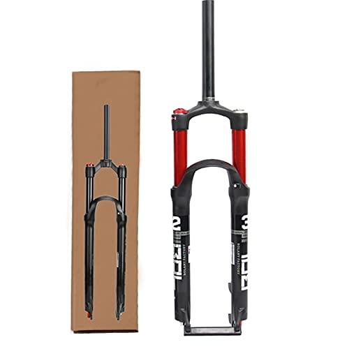 HCJGZ Horquilla De Bicicleta MTB De 120 Mm De Recorrido De Suspensión, Horquilla Delantera De Doble Cámara De Aire con Ajuste De Rebote De Suspensión Neumática De 1-1/8'