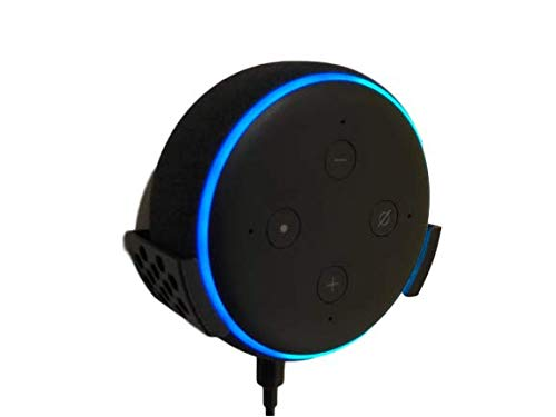 Soporte Pared - Amazon Alexa Echo Dot 3 ª Generación Altavoz Inteligente con Alexa Color Negro