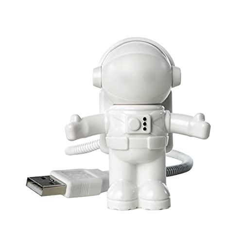 Teckey Lampada USB - Astronauta Estilo LED USB Luz,Astronaut Shape Mini USB LED Night Night Computer Laptop Lampada per Notebook,Mini Noche Luz Super Brillante Lámpara