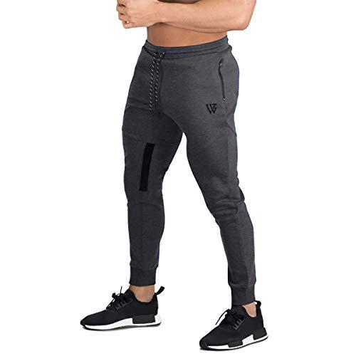 BROKIG Pantaloni della Tuta da Jogging da Palestra Vertex da Uomo con Tasche Grigio Scuro L