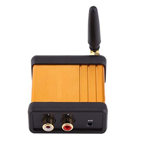 Adaptador de audio Bluetooth, Mini receptor de audio Hi-Fi 4.2 Adaptador de caja estéreo Placa de amplificador de salida RCA DC 5V