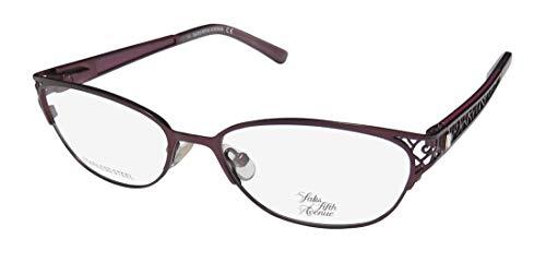 Saks Fifth Avenue Saks Fifth Avenue 272 0ESK Satin Plum Eyeglasses