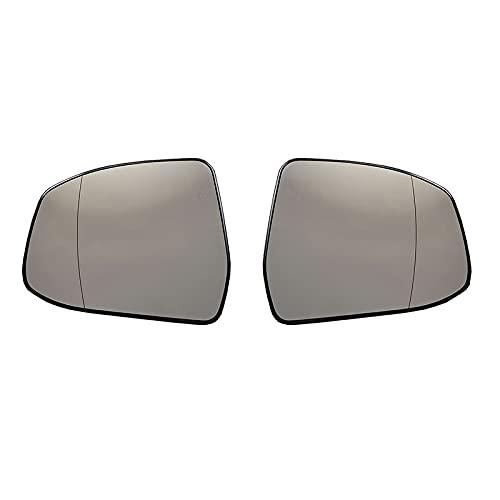 BYWWANG Lente de Cristal del Espejo retrovisor calefactado del ala Lateral de la Puerta Delantera del Volante Derecho, para Ford Focus Mondeo 2008-2018