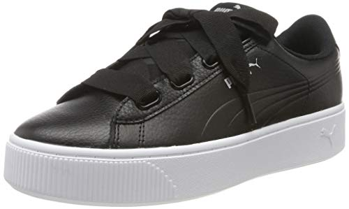 Puma Damen Vikky Stacked Ribbon Core Sneaker, Schwarz Black Black 01, 37.5 EU