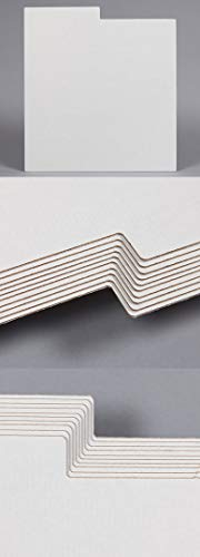 50 DIVISORES CLASIFICADORES DE Carton Hueco Color Blanco para Discos DE Vinilo LP - Ref.1840