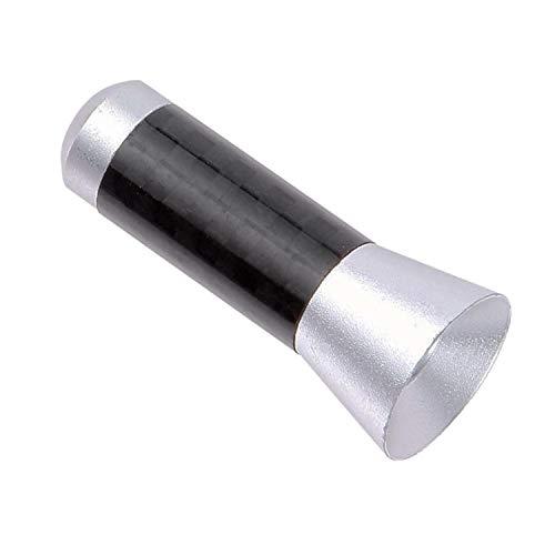 Tuokay, Antenna per Auto in Fibra di Carbonio, Antenna Universale per Auto, Mini Corta Antenne Autoradio da 3,5cm per la Rimozione di Elettricità Statica, Miglioramento del Segnale AM/FM (Argento)