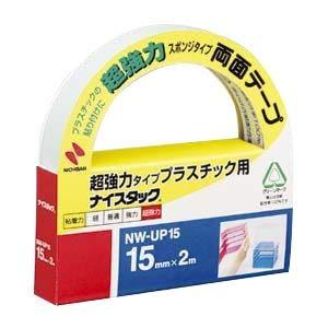 (業務用セット) ニチバン ナイスタック(R) 超強力プラスチック用 NW-UP15 1巻入 【×5セット】 〈簡易梱包