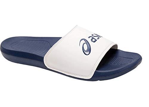 ASICS Unisex AS003 Slide Sandal, White/Indigo Blue, 46.5 EU