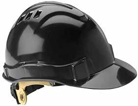 Gateway Safety 71207 Serpent High Density Polyethylene Vented Safety Helmet with Ratchet Suspension, ANSI Type I/Class C, Black