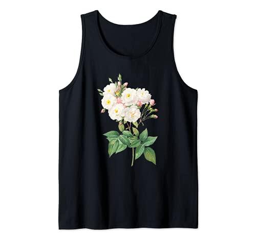 Pierre Joseph Redoute - Pintura de rosas blancas para jardinero Camiseta sin Mangas